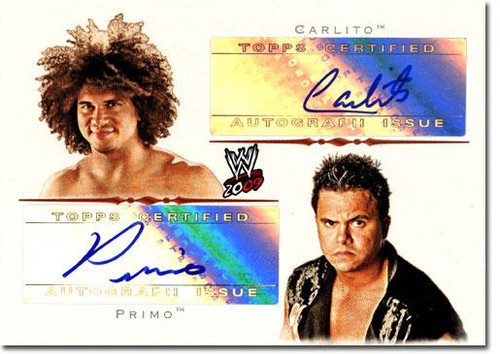 WWE Wrestling 2009 Trading Cards Authentic Autograph Primo & Carlito