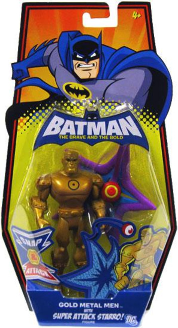 Batman The Brave and the Bold Gold Metal Men with Super Attack Starro Action Figure