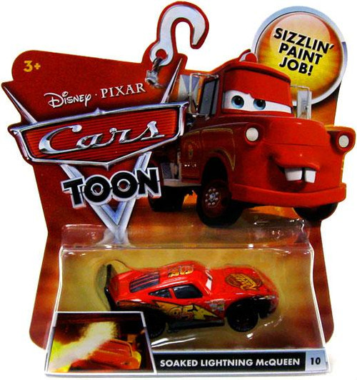 Disney Cars Cars Toon Main Series Soaked Lightning McQueen Diecast Car #10