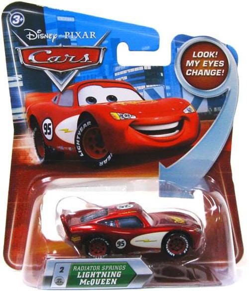 Disney Cars Lenticular Eyes Series 2 Radiator Springs Lightning McQueen Diecast Car