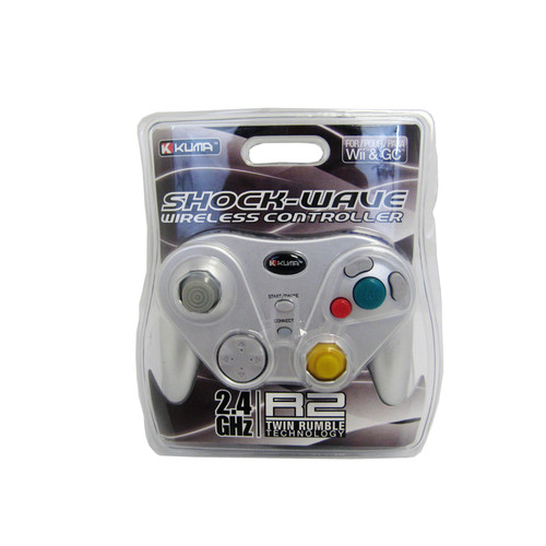 Nintendo Wii / Gamecube Shockwave Wireless Video Game Controller [Silver]