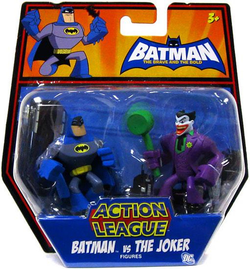 The Brave and the Bold Action League Batman Vs. The Joker Mini Figure 2-Pack