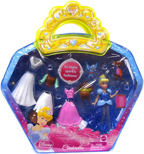 Disney Princess Sparkle Vinyl Pouch Cinderella Figure Set