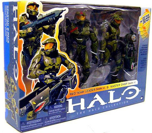 McFarlane Toys Halo Red Team Leader & Master Chief Action Figure 2-Pack