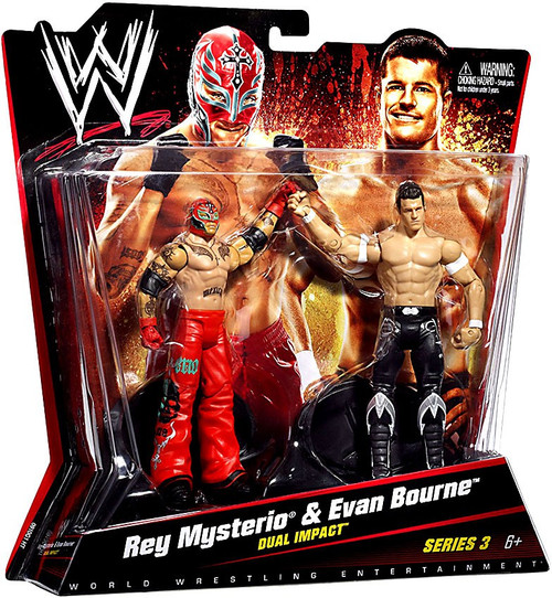 WWE Wrestling Series 3 Rey Mysterio & Evan Bourne Action Figure 2-Pack