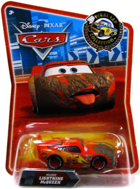Disney Cars Final Lap Collection Muddy Lightning McQueen Exclusive Diecast Car