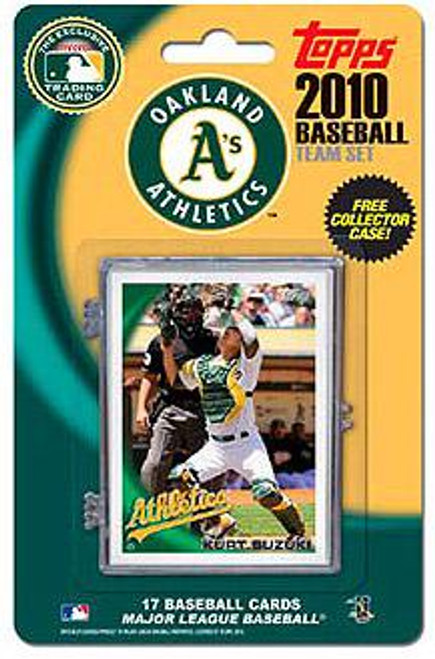MLB Oakland A's 2010 Topps Baseball Cards Oakland Athletics Exclusive Team Set