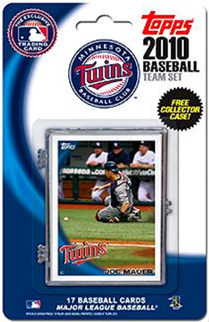 MLB 2010 Topps Baseball Cards Minnesota Twins Exclusive Team Set