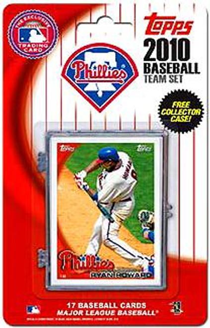 MLB 2010 Topps Baseball Cards Philadelphia Phillies Exclusive Team Set