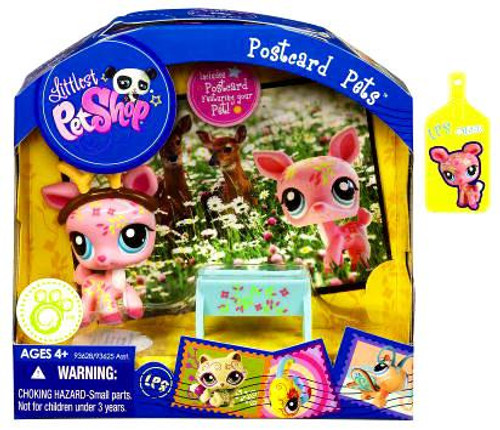 Littlest Pet Shop Postcard Pets Series 3 Deer Figure