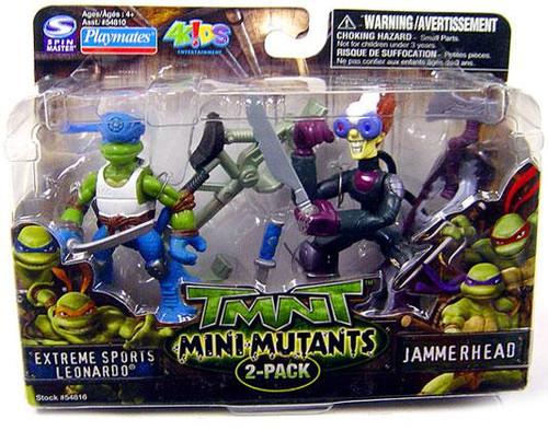 Teenage Mutant Ninja Turtles TMNT Mini Mutants Extreme Sports Leonardo & Jammerhead Action FIgure Set