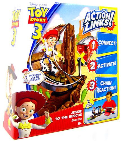 Toy Story 3 Action Links Stunt Set Jessie to the Rescue Playset