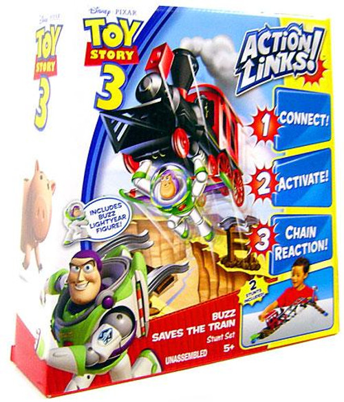 Toy Story 3 Action Links Stunt Set Buzz Saves the Train Playset