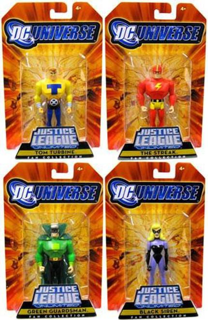 DC Justice League Unlimited Justice Guild Set of 4 Exclusive Action Figures