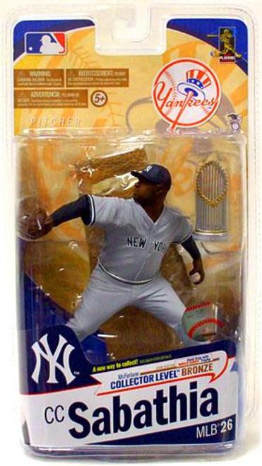 McFarlane Toys MLB Sports Picks Series 26 CC Sabathia (New York Yankees) Action Figure [Road Gray With Trophy]