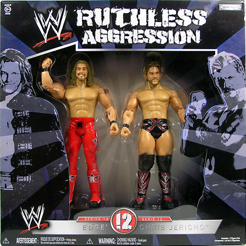 WWE Wrestling Ruthless Aggression Series 12 Edge Vs. Chris Jericho Action Figure 2-Pack