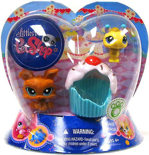 Littlest Pet Shop Valentines Day Bee & Dog Exclusive Figure 2-Pack #1407, 1408 [Cupcake]