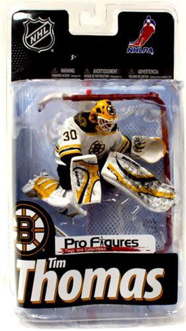 McFarlane Toys NHL Boston Bruins Sports Picks Series 24 Exclusive Tim Thomas Exclusive Action Figure [White Jersey Variant With Goalie Net]