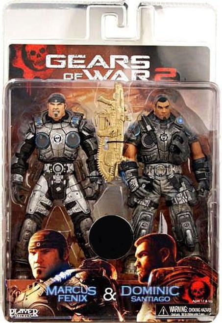 NECA Gears of War 2 Marcus Fenix & Dominic Santiago Exclusive Action Figure 2-Pack