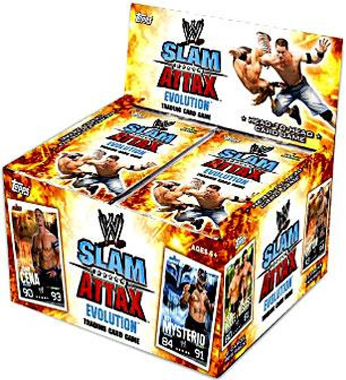 WWE Wrestling Slam Attax Evolution Series 1 Booster Box