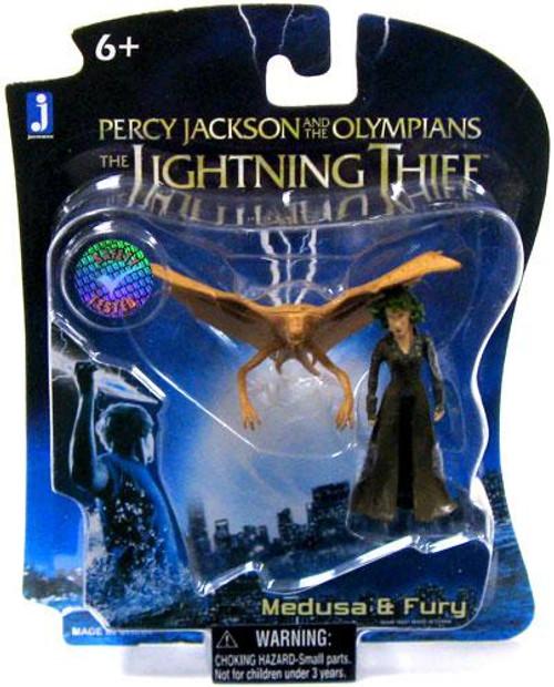 Percy Jackson The Lightning Thief Medusa & Fury Micro Figure 2-Pack