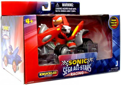 Sonic The Hedgehog Sega All-Stars Racing Knuckles with Land Breaker ATV 3.5-Inch Figure Vehicle