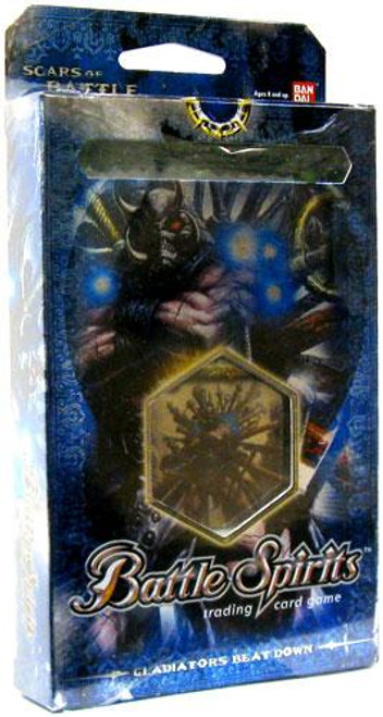 Battle Spirits Trading Card Game Scars of Battle Gladiator's Beat Down Deck