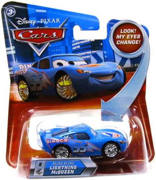 Disney Cars Lenticular Eyes Series 2 Bling Bling Lightning McQueen Diecast Car