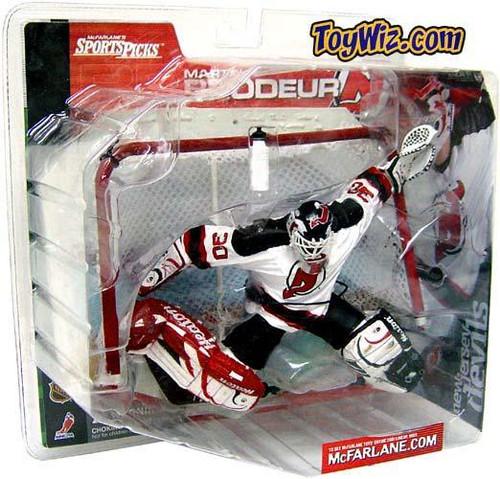 McFarlane Toys NHL New Jersey Devils Sports Picks Series 1 Martin Brodeur Action Figure [Plain White Water Bottle]