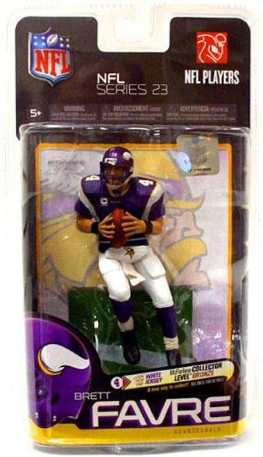 McFarlane Toys NFL Minnesota Vikings Sports Picks Series 23 Brett Favre Action Figure [Purple Jersey]