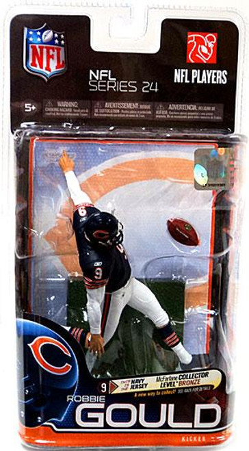 McFarlane Toys NFL Chicago Bears Sports Picks Series 24 Robbie Gould Action Figure [Dark Blue Jersey]