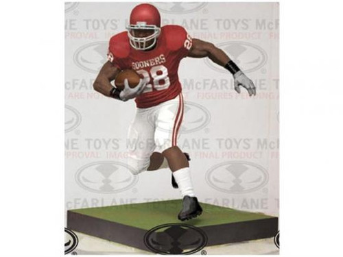 McFarlane Toys NFL Oklahoma Sooners Sports Picks 12 Inch Deluxe Adrian Peterson Action Figure [Oklahoma Sooners]