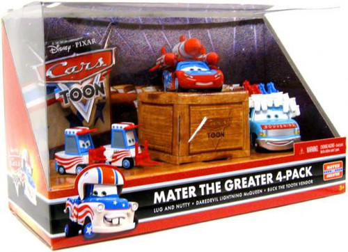 Disney Cars Cars Toon Multi-Packs Mater the Greater 4-Pack Diecast Car Set [Set #4]