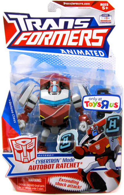Transformers Animated Deluxe Cybertron Mode Autobot Ratchet Exclusive Deluxe Action Figure