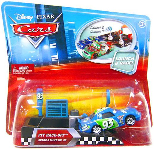 Disney Cars Pit Row Race-Off Spare O Mint No. 93 Diecast Car [Includes Launcher]