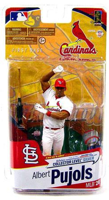 McFarlane Toys MLB St. Louis Cardinals Sports Picks Series 26 Albert Pujols Exclusive Action Figure [White Jersey Without Trophy]