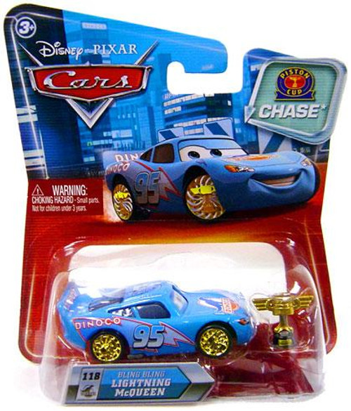 Disney Cars Series 2 Piston Cup Bling Bling Lightning McQueen (with Trophy) Diecast Car