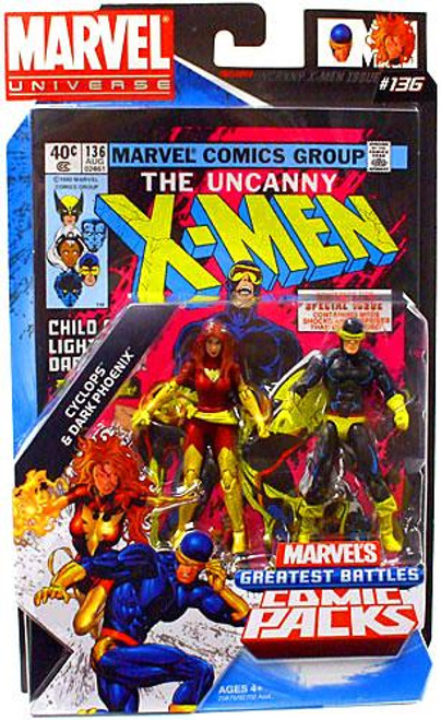 Marvel Universe Marvel's Greatest Battles Comic Packs Cyclops & Dark Phoenix Action Figure 2-Pack