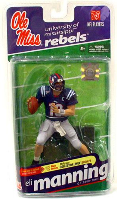 McFarlane Toys NCAA College Football Sports Picks Series 2 Eli Manning Action Figure [Navy Blue Jersey]