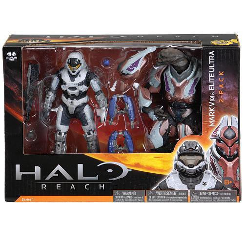 McFarlane Toys Halo Reach Series 1 Spartan Mark V [B] & Elite Ultra Action Figure 2-Pack