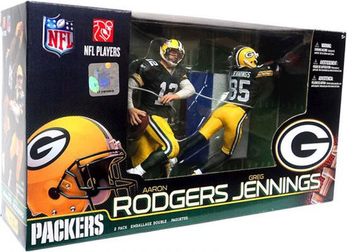 McFarlane Toys NFL Green Bay Packers Sports Picks 2-Packs Aaron Rodgers & Greg Jennings Action Figure 2-Pack