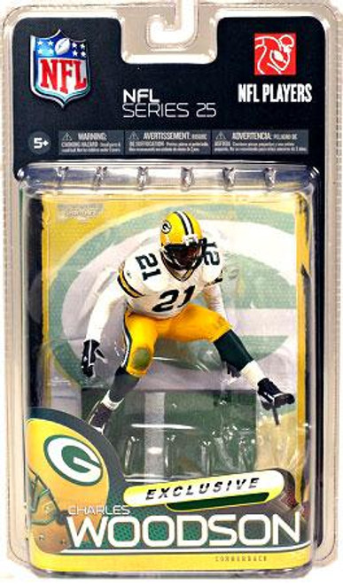 McFarlane Toys NFL Green Bay Packers Sports Picks Series 25 Charles Woodson Exclusive Action Figure [White Jersey]