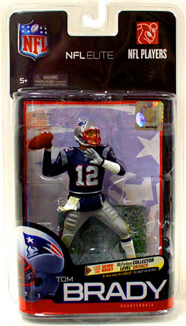 McFarlane Toys NFL New England Patriots Sports Picks Elite Series 1 Tom Brady Exclusive Action Figure [Blue Jersey]