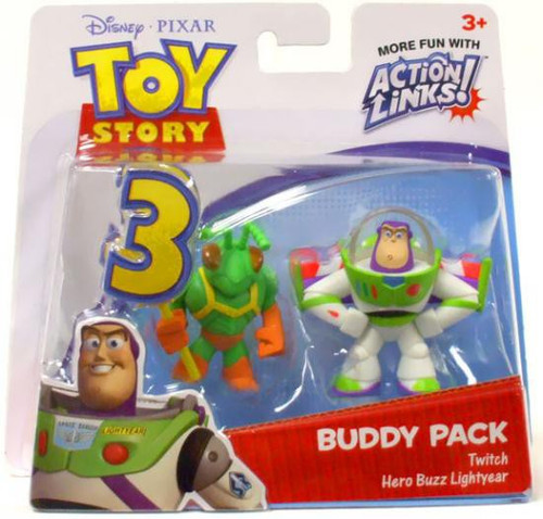 Toy Story 3 Action Links Buddy Pack Twitch & Hero Buzz Lightyear Mini Figure 2-Pack