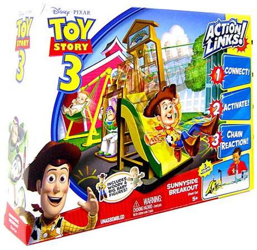 Toy Story 3 Action Links Stunt Set Sunnyside Breakout Playset