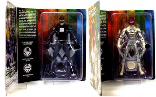 DC Green Lantern Blackest Night Sinestro White Lantern & Hal Jordan Black Lantern Exclusive Action Figures
