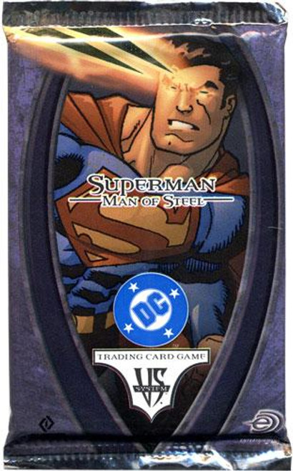DC VS System Trading Card Game Superman Man of Steel Booster Pack [Sealed]