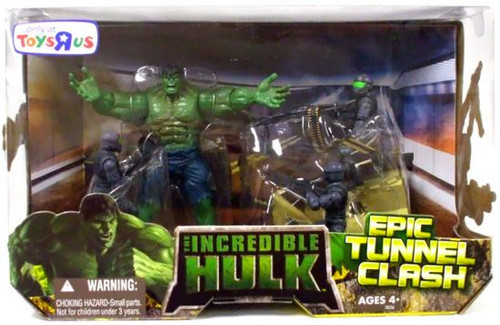The Incredible Hulk Movie Epic Tunnel Clash Exclusive Action Figure Set
