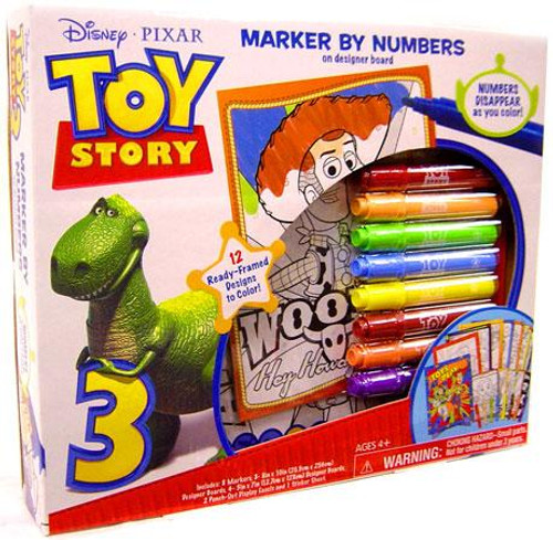 Toy Story 3 Marker By Numbers Activity Set
