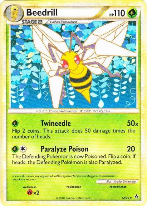 Pokemon HeartGold & Soulsilver Unleashed Rare Beedrill #12